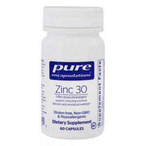Zinc 30mg No fillers immune support
